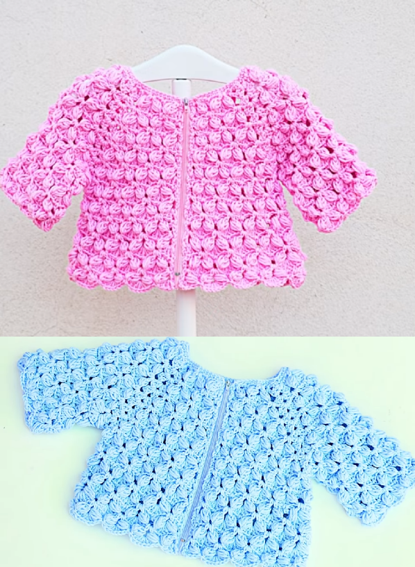 crochet baby girl jacket