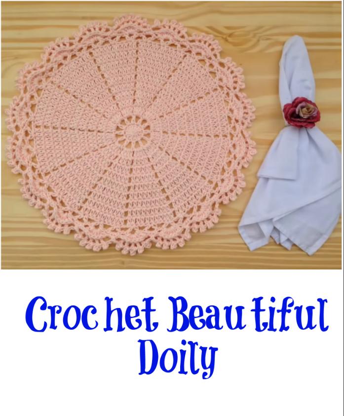 crochet beautiful doily