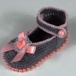 Crochet Beautiful Baby Girl Shoes