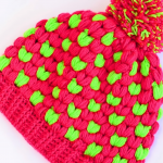 Crochet Puff Stitch Beanie Hat