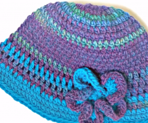 Crochet Fast And Easy Hat With Flower