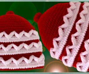 Crochet 3 D Hat For Christmas