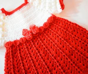Crochet Baby Dress For Christmas