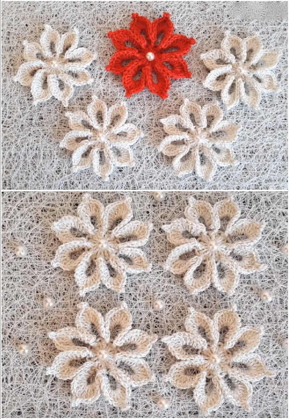 DIY Crochet lovely flower
