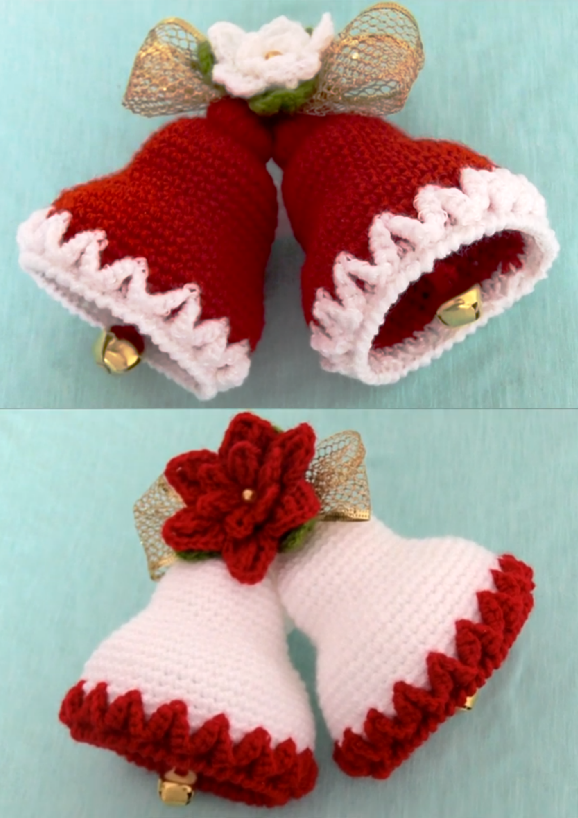 crochet chtistmas bells