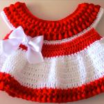 Crochet Cute Christmas Baby Dress