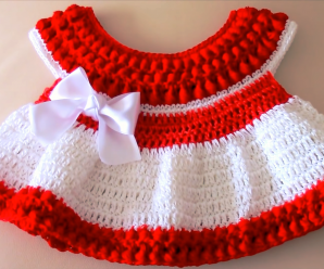 Crochet Cute Christmas Baby Dress