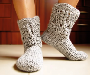 Crochet Comfortable Slippers (All Size)