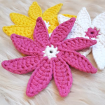 DIY Crochet Flower Doily Coaster