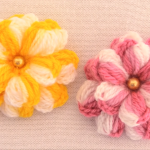 Crochet Colorful  3 D Flowers