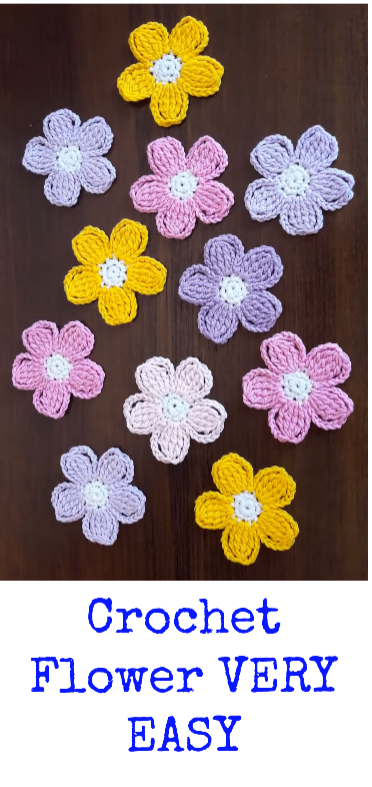 Crochet Flower VERY EASY