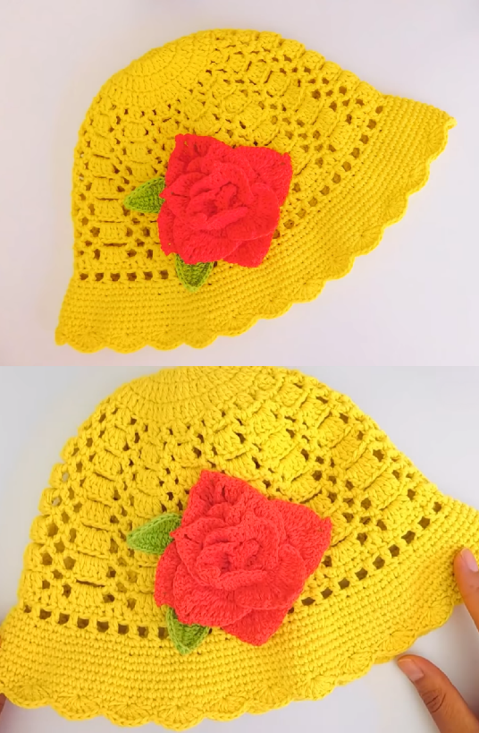 Crochet Sombrero Hat For Babies