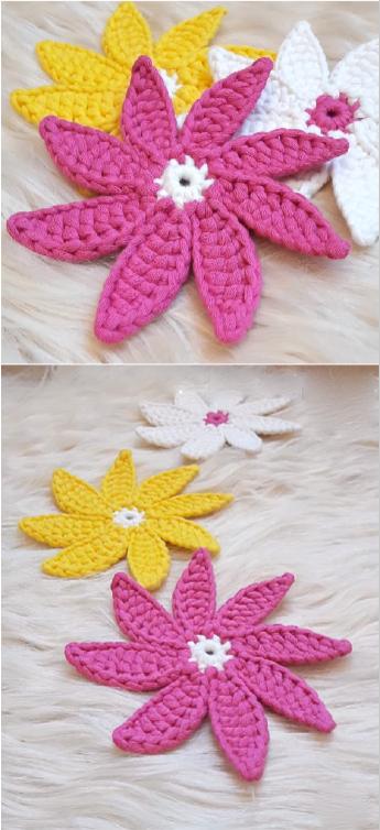 DIY Crochet Flower Doily Coaster