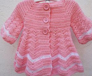 Crochet Lovely Coat For Baby Girl
