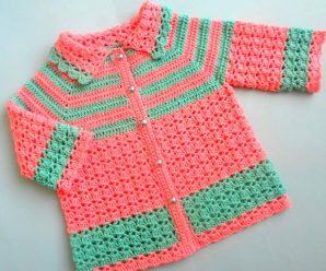 Crochet Easy Baby Sweater Cardigan