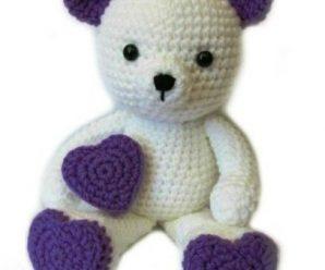 Crochet Valentine Teddy Bear Amigurumi