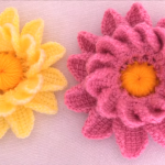 Crochet Adorable 3 D Flower
