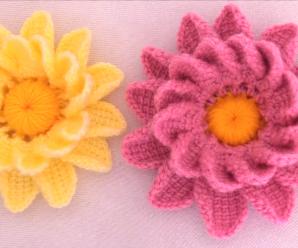 Crochet Adorable 3 D Flower