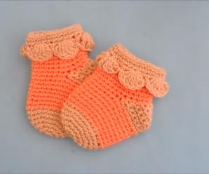 Crochet Lovely Baby Socks