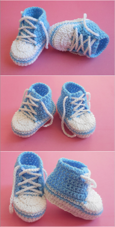 Crochet Easy Baby Shoes (0-3)