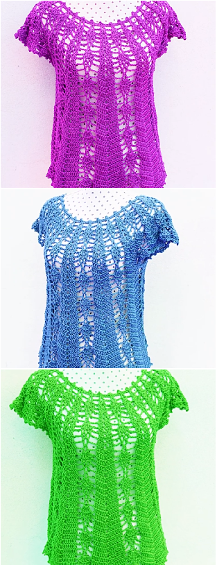 Crochet Fast And Easy Sleeveless Blouse