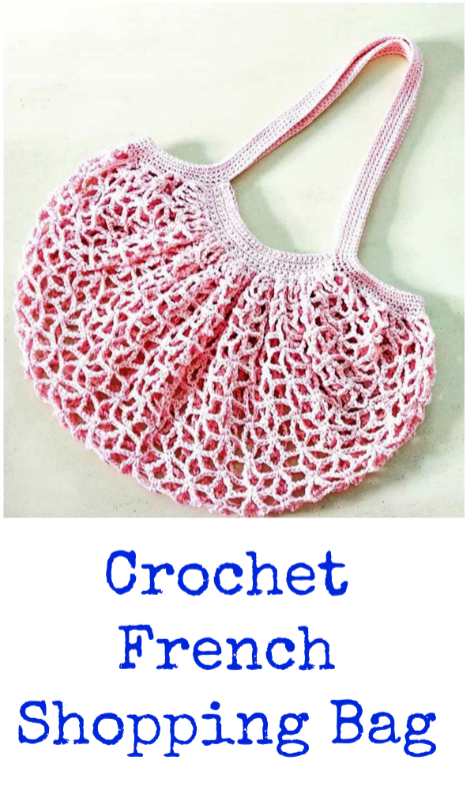 Crochet French Shopping Bag