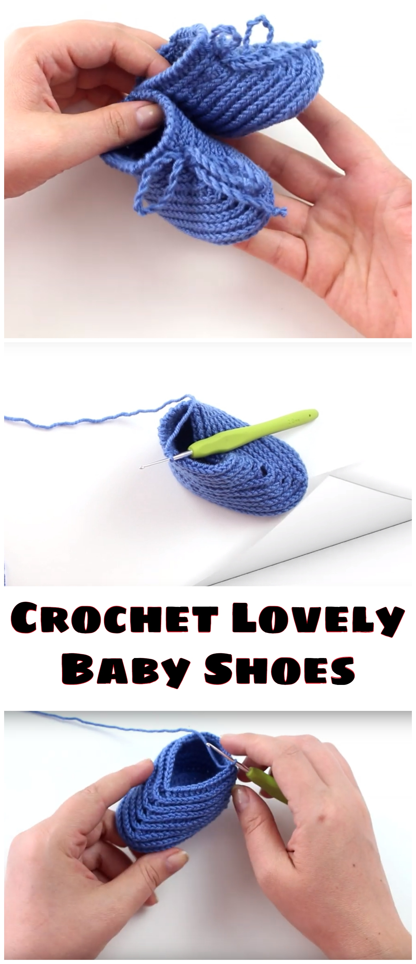 Crochet Lovely Baby Shoes