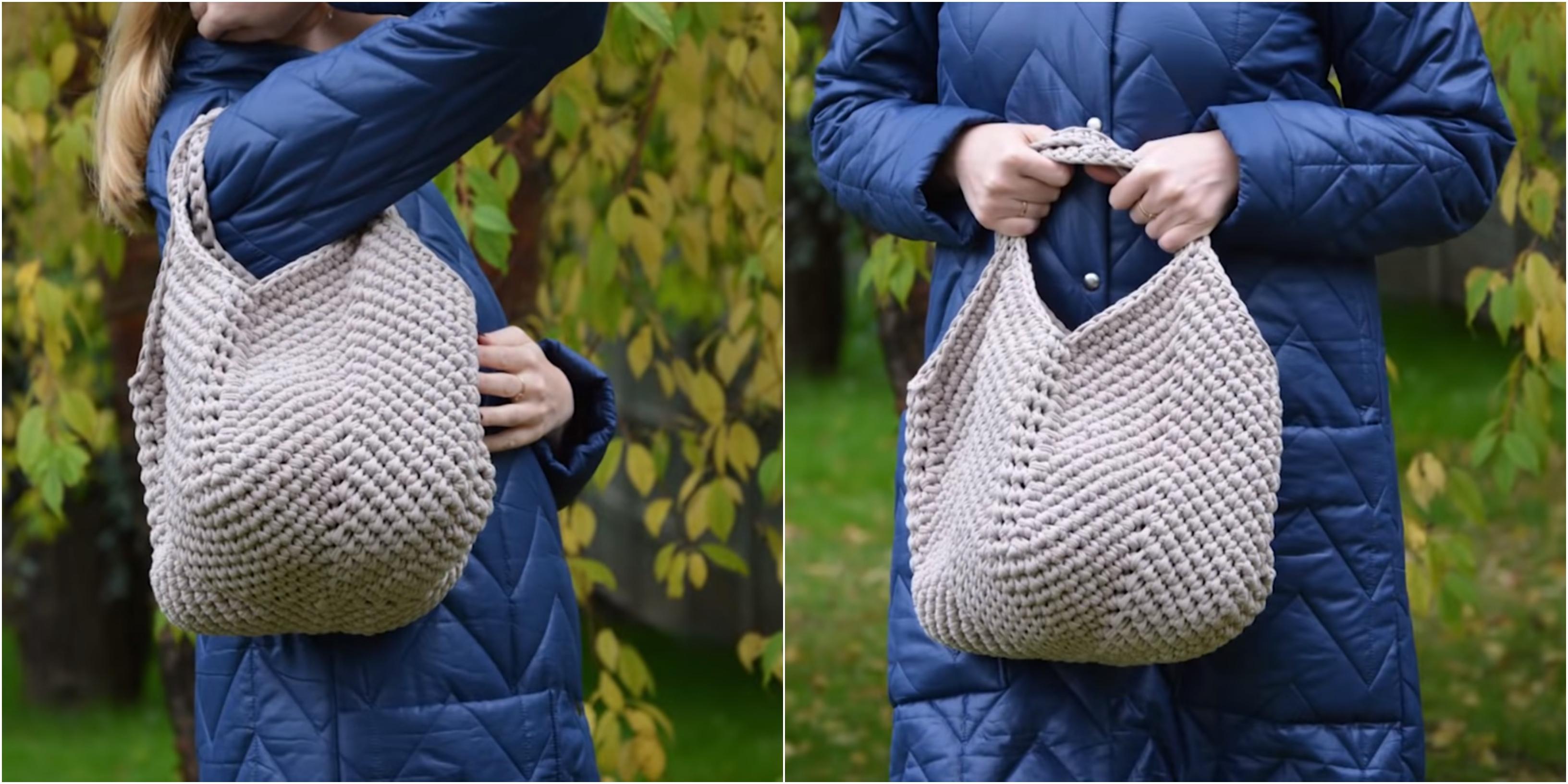 Crochet Slouchy Bag