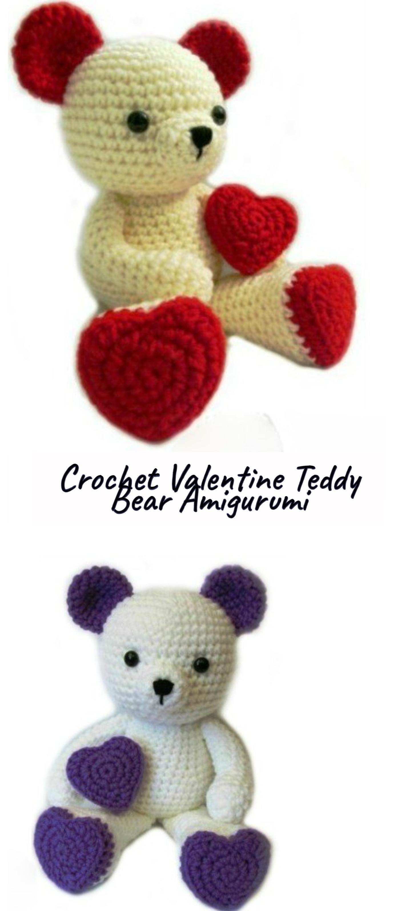 Crochet-Valentine-Teddy-Bear-Amigurumi