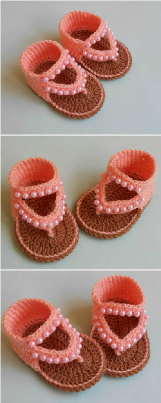 How To Crochet Baby Sandals