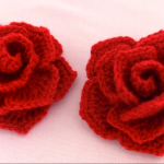 Crochet Easy Woven Rose Flower