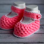 Crochet Lovely Baby Girl Shoes