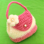 Crochet Purse Bag With 3 D Flower