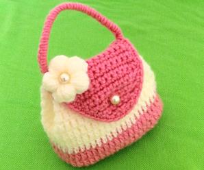 Crochet Purse Bag With 3 D Flower
