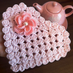 Crochet Easy Heart Doily