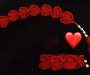 Crochet Valentines Day Gifts – Braclet And Headband