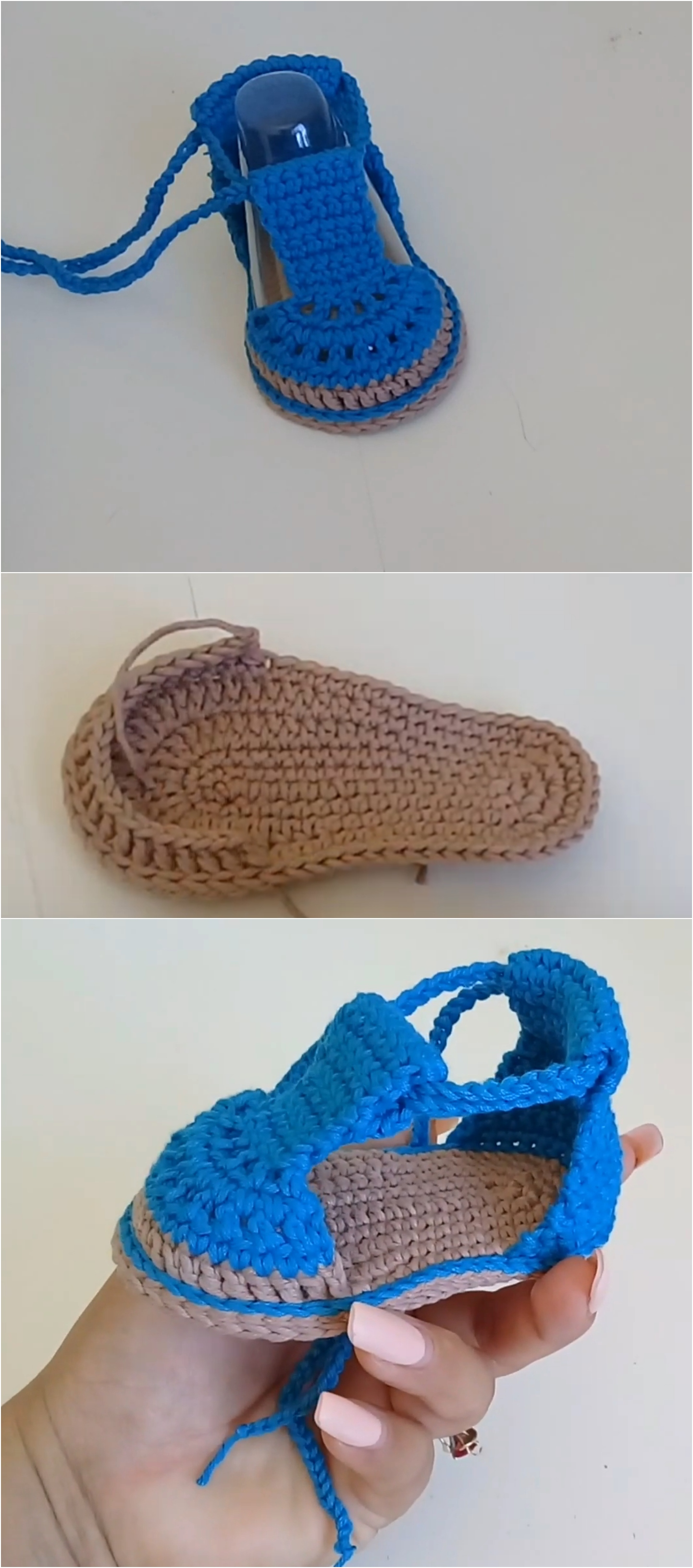 Crochet Baby Shoes (0-3 Months)