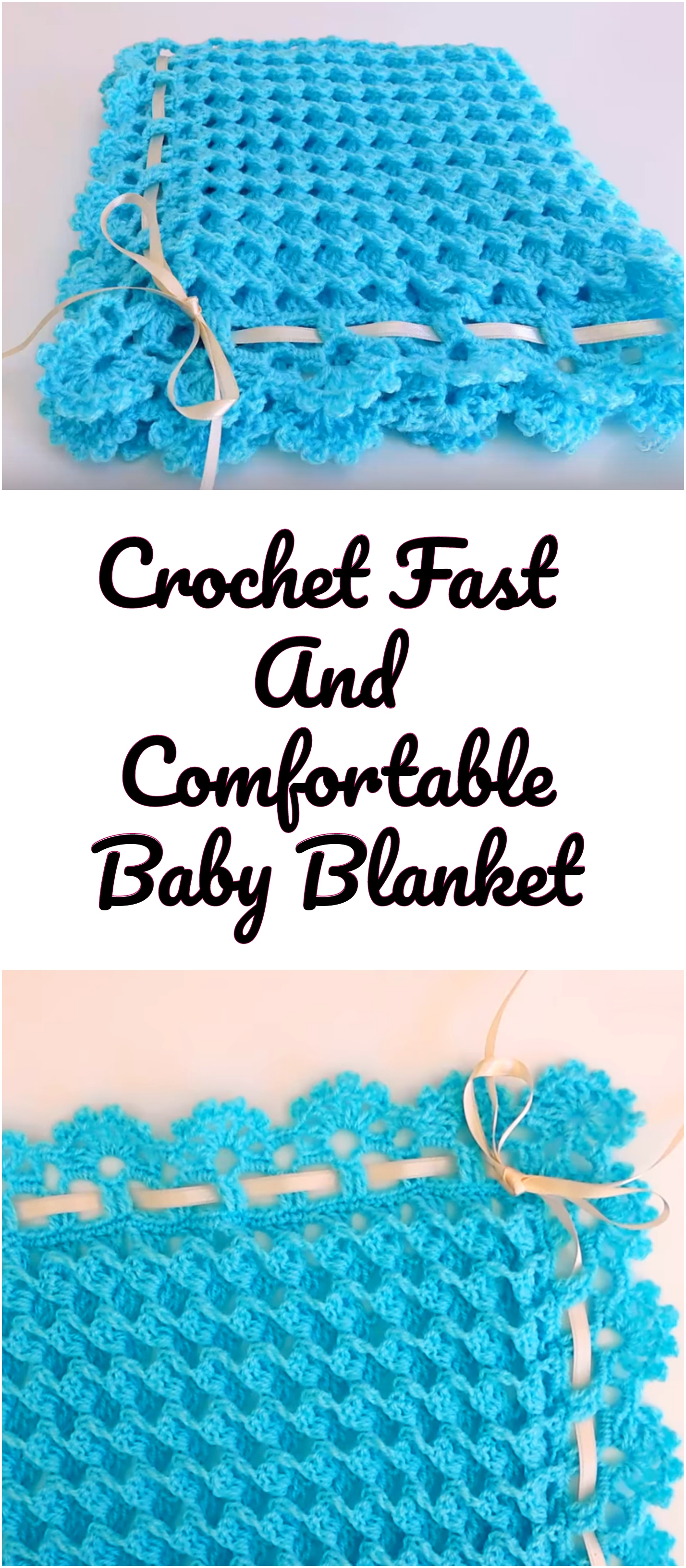 Crochet Fast And Comfortable Baby Blanket Crochet Ideas