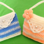 Crochet Purse With 3 D Flower