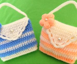 Crochet Purse With 3 D Flower