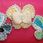 Crochet Butterfly With Beads