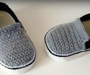 Crochet Baby Shoes From 3-6 Months
