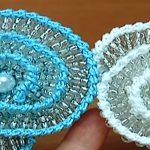 Crochet Spiral Flower With Beads