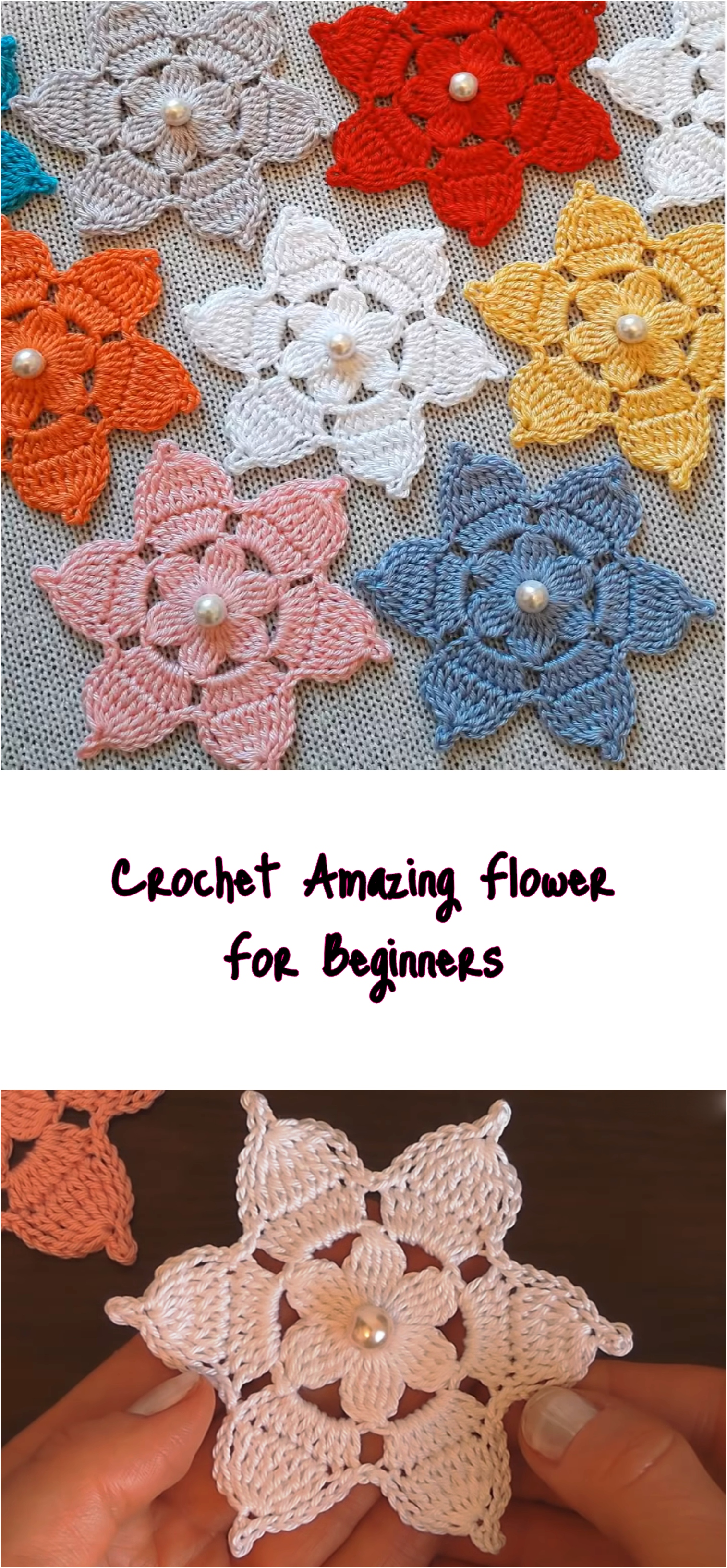 Crochet Amazing Flower For Beginners