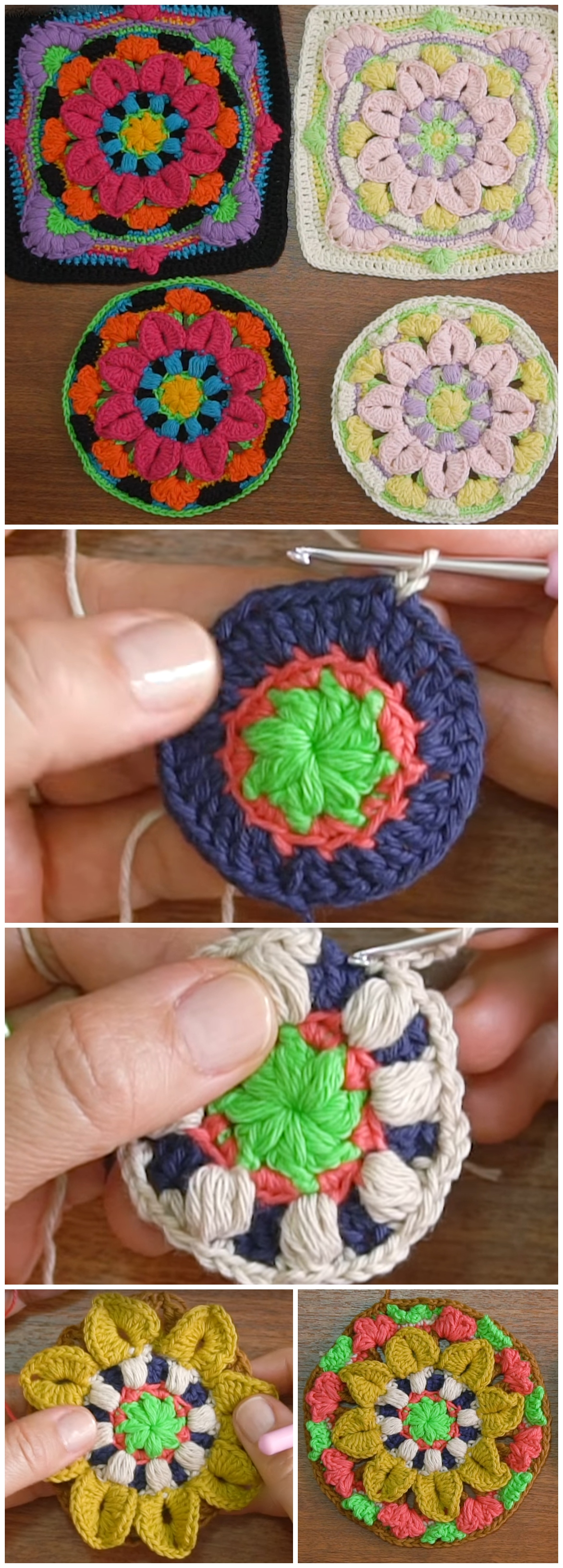 Crochet Layered Mandala Granny