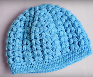 Crochet Puff Stitch Baby Hat