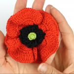 Crochet Lovely Poppy Flower