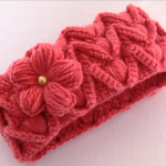 Crochet Beautiful Headband With 3 D Flower