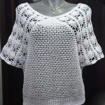 Crochet Stylish Short Sleeve Blouse