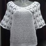 Crochet Stylish Short Sleeve Blouse